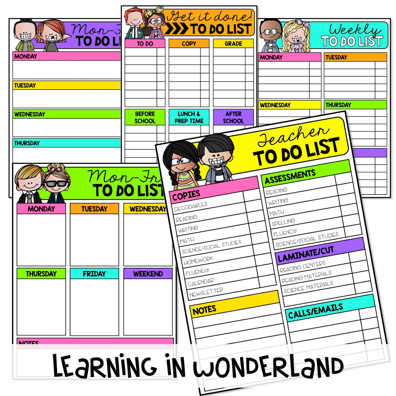 Use these checklists to get everything done and stay organized!