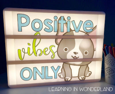 Cute designs for a teacher light box!