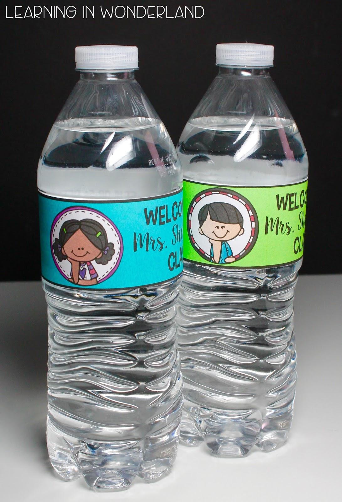 Pass out these cute bottles on Meet the Teacher Night!