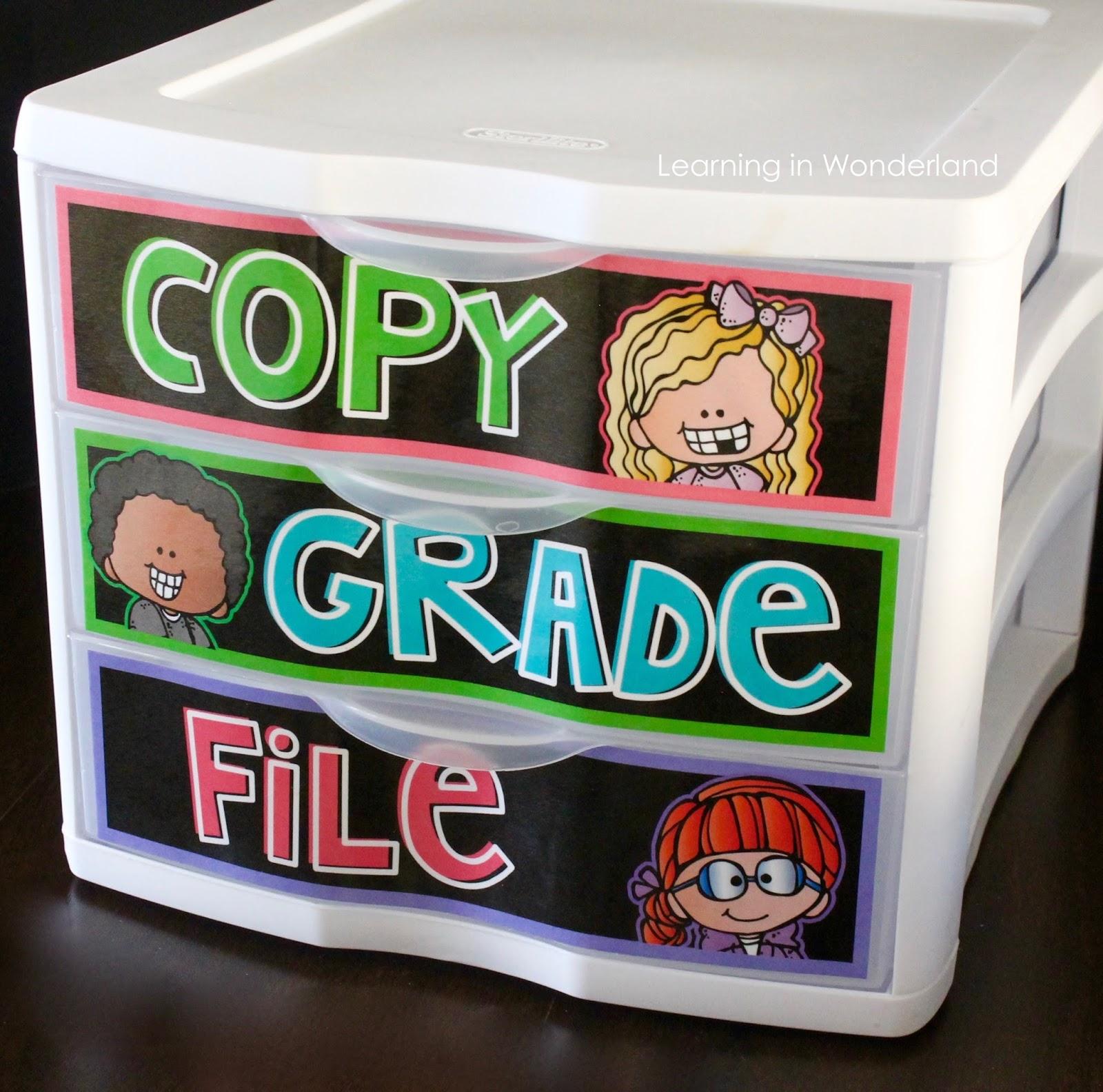 Use Sterilite 3 drawer bins to stay organized!