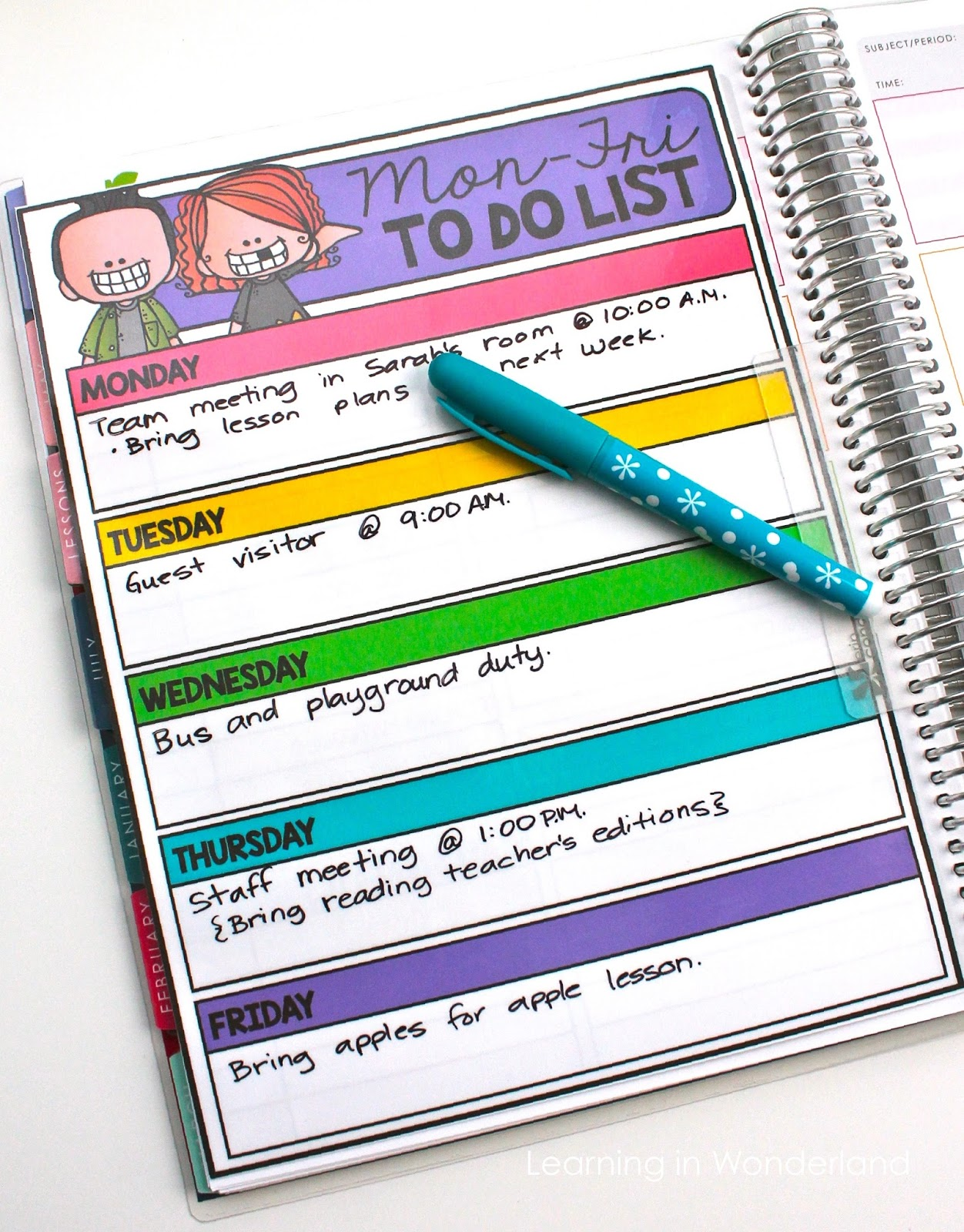 Free teacher checklist!