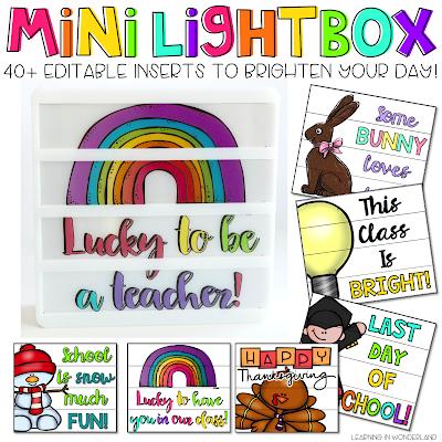 Mini Lightbox Inserts
