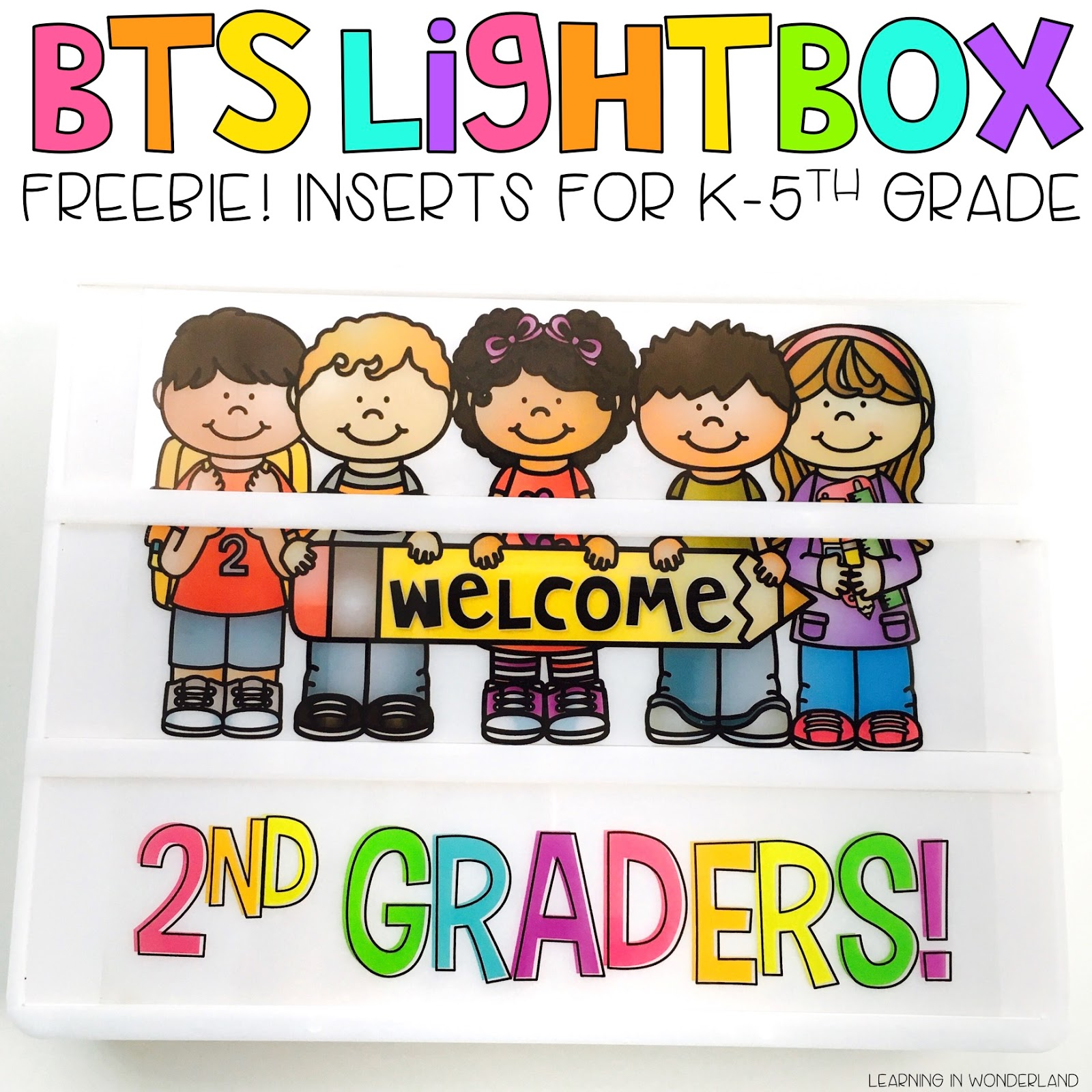 Free lightbox insert for the classroom! Perfect for back to school time!