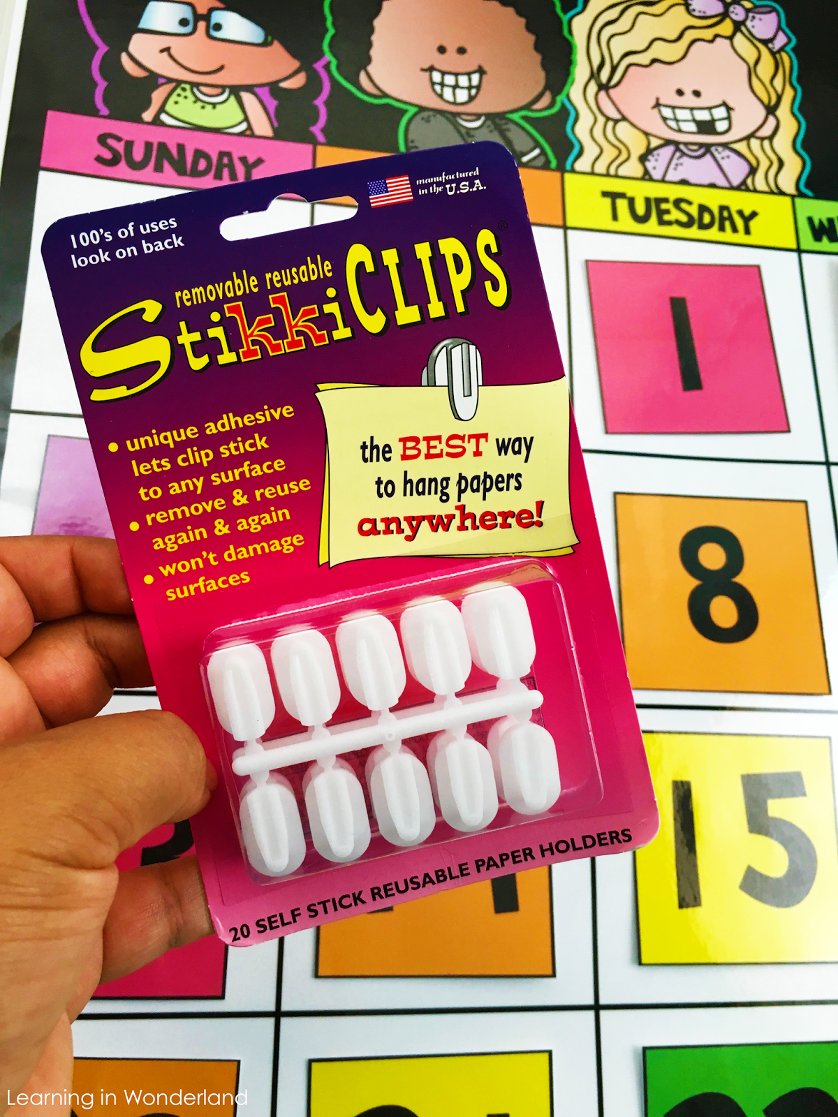 Use StikkiClips on your calendar!