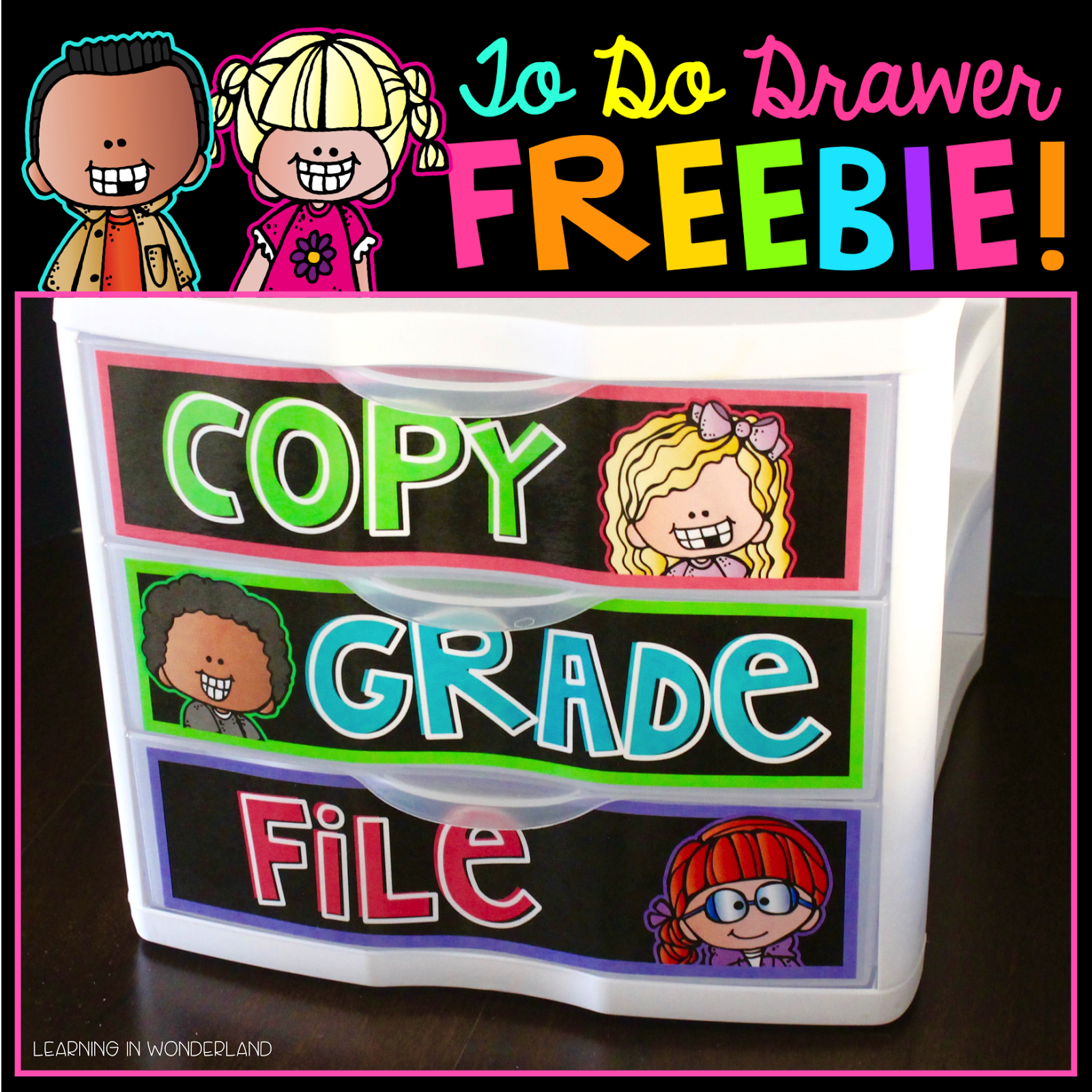 Organization freebie perfect for kindergarten, first grade, and second grade classrooms! Staying organized has never been so easy!